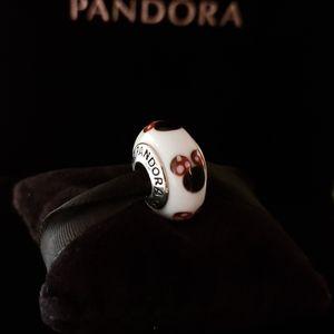 Pandora Disney Minnie Murano Glass Bead Charm